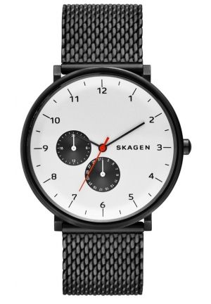 SKAGEN Hald White Sunblast Dial Stainless Steel Mesh Bracelet Men's Watch SKW6188