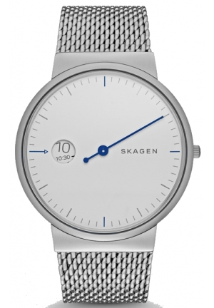 Skagen Ancher Silver Dial Men's Stainless Steel Watch SKW6193
