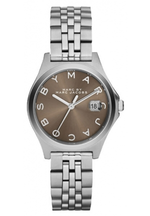 Slim Silver-Tone Stainless Steel Watch with Link Bracelet 30mm MBM3351