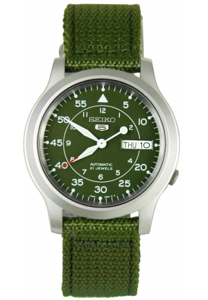 SEIKO 5 MILITARY AUTOMATIC MENS WATCH