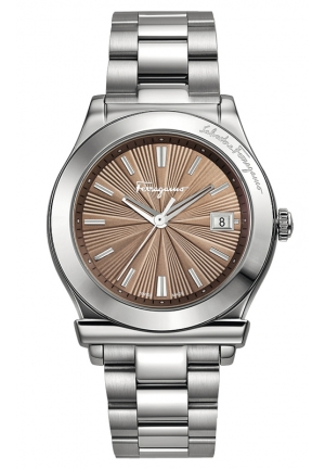 Stainless Steel Mink Sunray Dial Date Watch 40mm