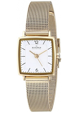 STRAND STAINLESS STEEL GOLD TONE WATCH WITH MESH BAND 20MM