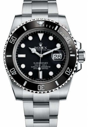 SUBMARINER DATE Oyster steel 116610LN  , 40 mm
