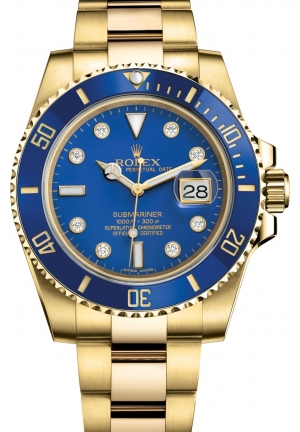SUBMARINER DATE Oyster yellow gold , 40 mm