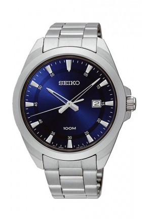 Seiko Blue Dial Stainless Steel Men's Watch