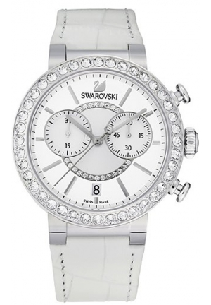 SWAROVSKI Citra Sphere Chrono - white, silver 38mm