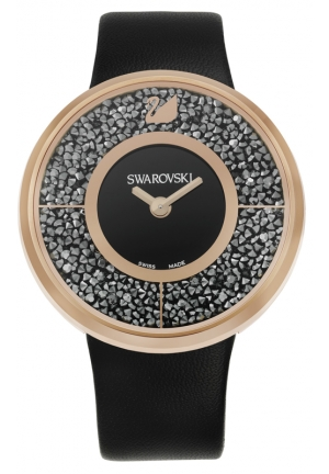 SWAROVSKI Crystalline - black, rose gold 40mm