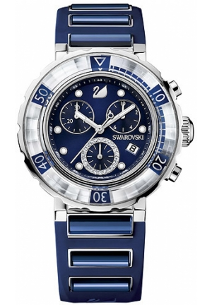 SWAROVSKI Octea Chrono - dark blue 40mm