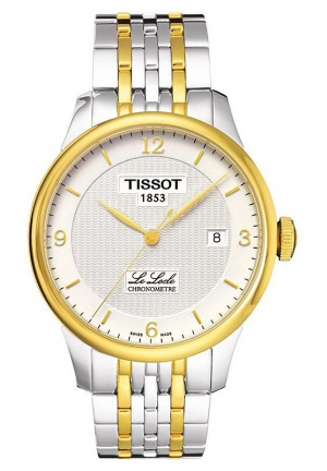 TISSOT Le Locle Men's Automatic COSC Silver Dial Watch with Stainless Steel Bracelet T0064082203700, 39.3mm