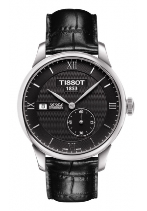 TISSOT Le Locle Small Second Men's Automatic - Black Dial and Black Leather Strap, T0064281605800 39.3mm