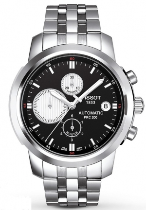 TISSOT Men's Watch Chronograph PRC 200, T0144271105101, 42mm