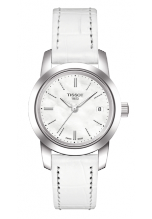 TISSOT Classic Dream Women's White Quartz Leather Watch , T0332101611100 28mm
