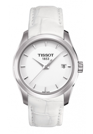 TISSOT Couturier Ladies White Quartz Trend Watch T0352101601100, 32mm
