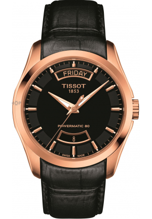 TISSOT Couturier Automatic Black Dial Watch T0354073605101