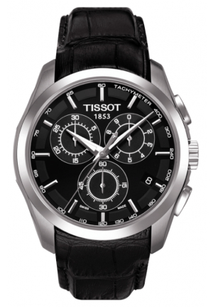 Tissot  Men's Couturier Black Leather T035.617.16.051.00
