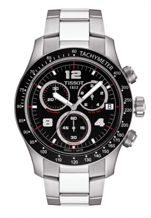 TISSOT V8 Men's Black Quartz Chronograph Watch, T0394171105702 42.5mm