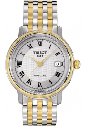 TISSOT Bridgeport Men's Silver Automatic Classic Watch T0454072203300, 40mm
