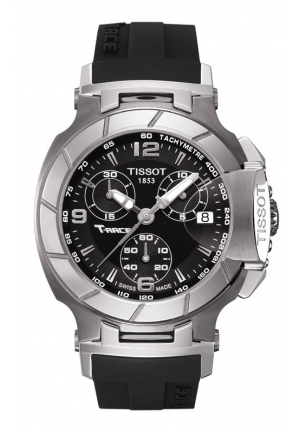 TISSOT T-Race Ladies Black Quartz Sport Watch T0482171705700, 36.65mm