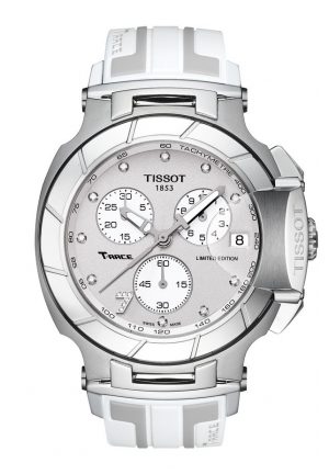 TISSOT T-Race Danica Patrick Limited Edition 2014 Quartz Chrono Watch with White Rubber Strap T0484171703600 45mm
