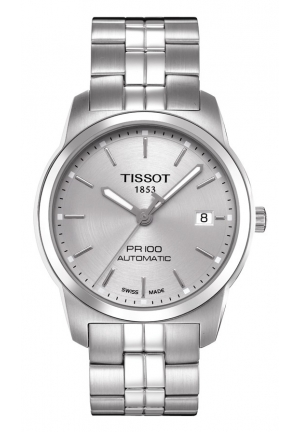 TISSOT PR 100 Men's Silver Automatic Classic Watch T0494071103100, 38mm