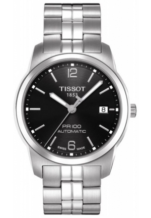 Tissot Men's PR 100 Black Automatic Dial Watch T0494071105700, 38mm
