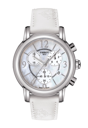 Dressport Women's Quartz White MOP Dial with White Synthetic Strap T050.217.17.117.00