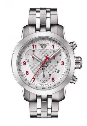 TISSOT PRC 200 Asian Games Special Edition 2014 Lady Quartz Chrono Silver Dial Watch with Stainless Steel Bracelet T0552171103200 35mm