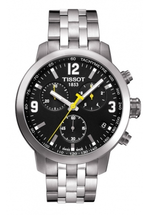 TISSOT PRC 200 Men's Black Chronograph Quartz Sport Watch, T0554171105700 42mm