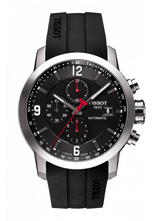 TISSOT PRC 200 MEN'S AUTOMATIC CHRONO WATCH, T0554271705700 44MM