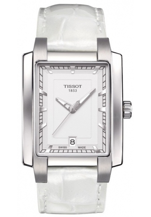 TISSOT T-Trend TXL White Dial White Leather Ladies Watch T0613101603100 28.5mm