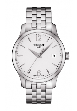 TISSOT Tradition Lady Quartz Silver Dial Watch with Stainless Steel Bracelet T0632101103700 33mm