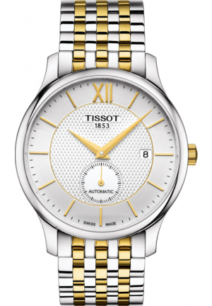 TISSOT Tradition Silver Dial Automatic Men's Two Tone Watch T063.428.22.038.00