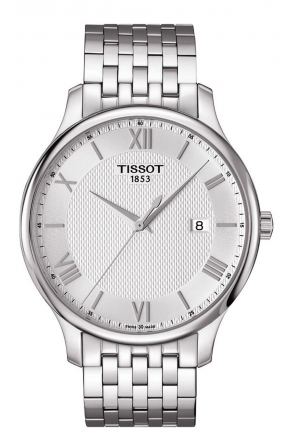 TISSOT Tradition Men's Silver Dial Stainless Steel Men's Watch T0636101103800, 42mm