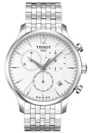 Tissot Men's Tradition Analog Display Swiss Quartz Silver Watch T063.617.11.037.00