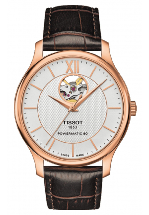 TISSOT TRADITION AUTOMATIC OPEN HEART T063.907.36.038.00, 40MM