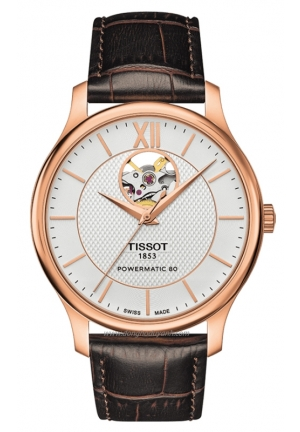 TISSOT TRADITION AUTOMATIC OPEN HEART WATCH 40MM T063.907.36.038.00