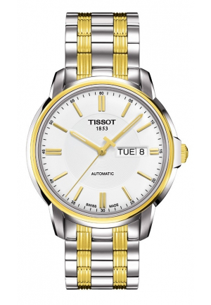 T-CLASSIC AUTOMATIC III MEN'S WHITE CLASSIC AUTOMATIC WATCH T065.430.22.031.00, 39.7MM