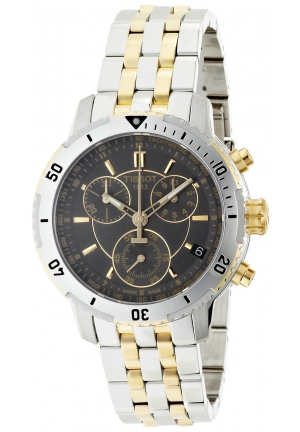 TISSOT Men's PRS 200 Two Tone Watch T0674172205100, 41mm