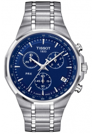 TISSOT Men's Swiss Chronograph PRX T0774171104110, 40mm