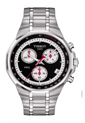 TISSOT PRX Special Edition MSG Men's Black & White Chronograph Watch T0774171105111, 39.8mm