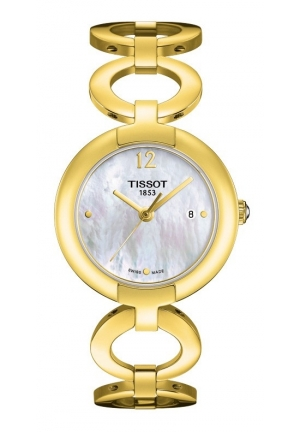 TISSOT Pinky Yellow Gold White Mother-of-Pearl Quartz Watch , T0842103311700 27.95mm