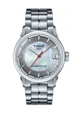 TISSOT Luxury Automatic Asian Games Limited Edition 2014 Lady MOP Dial Watch with Stainless Steel Bracelet T0862071111101 33mm