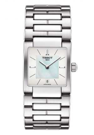 TISSOT Lady T02 Women's Quartz White MOP Dial Watch with Stainless Steel Bracelet T0903101111100 23mm