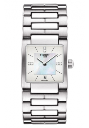 TISSOT Lady T02 Women's Quartz Diamond Index White MOP Dial Watch with Stainless Steel Bracelet T0903101111600 32mm