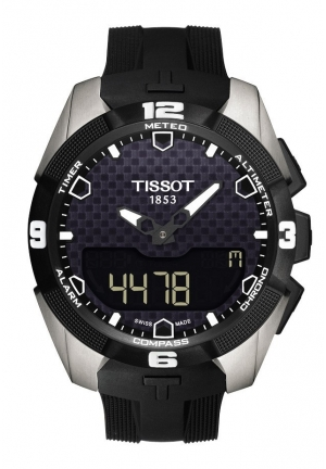 TISSOT T-Touch Expert Solar Tony Parker Limited Edition 2014 Men's Quartz Chrono Watch T0914204606100, 45mm