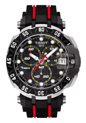 TISSOT T-RACE STEFAN BRADL LIMITED EDITION 2015 MEN'S QUARTZ CHRONOGRAPH BLACK DIAL WITH RUBBER STRAP T0924172705100 44mm