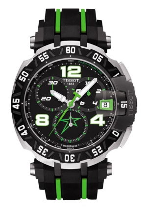 TISSOT T-RACE NICKY HAYDEN LIMITED EDITION 2015 MEN'S QUARTZ CHRONOGRAPH BLACK DIAL WITH RUBBER STRAP T0924172705701 44mm