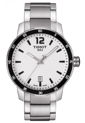 TISSOT Quickster Silver Dial Stainless Steel Men's Watch T0954101103700, 40mm