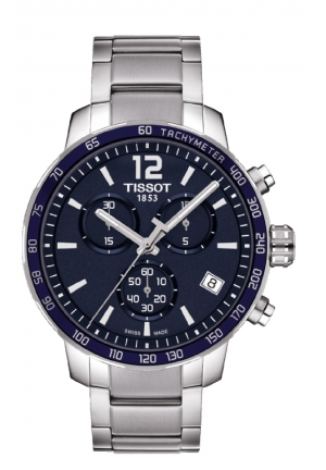 TISSOT Quickster Chronograph Blue Dial Stainless Steel Men's Sports Watch T0954171104700, 42mm