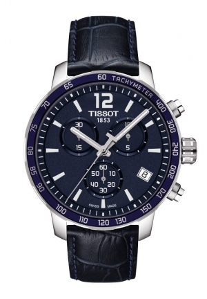 Tissot Quickster Chronograph Blue Dial Men's Watch T0954171604700